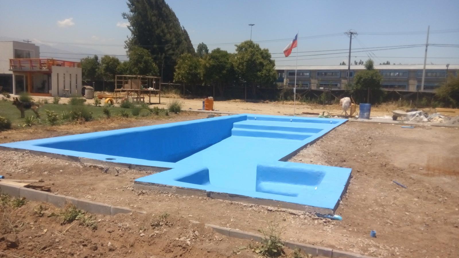 Piscina 70m2 chicureo poniente saygo ingenier a for Construccion piscinas chicureo